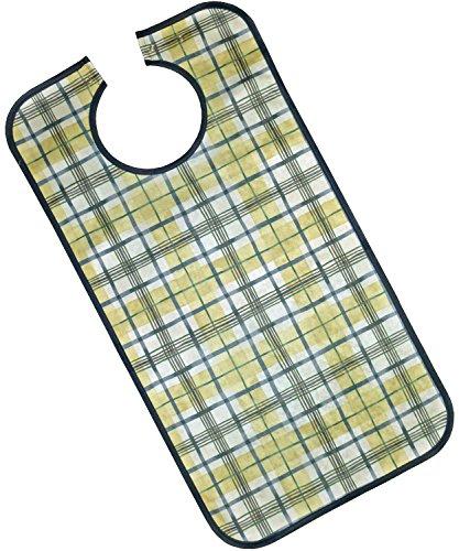 PFLEGE-POINT® Kleidungsschutz/Ess-Schürze für Erwachsene, wasserdicht (blau-beige)
