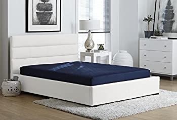DHP 6 Inch Quilted Mattress Full Blue