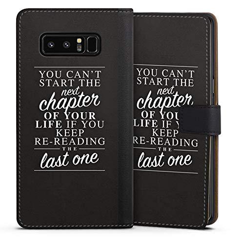 DeinDesign Cover kompatibel mit Samsung Galaxy Note 8 Duos Tasche Leder Flip Hülle Hülle Motivation Leben Life