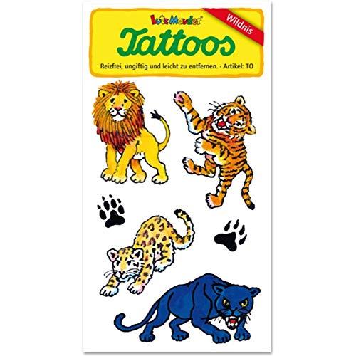 Lutz Mauder Lutz mauder44581Wild Katzen Tattoo (One Size)