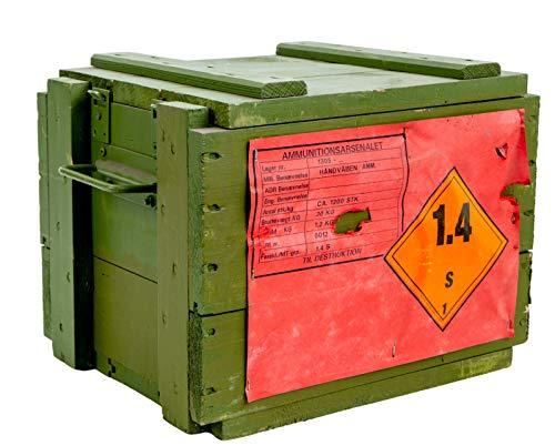 Munitionskiste 4C4 Wandstärke über 1 cm Maße Wandstärke über 1 cm Maße Außen ca 35x27x27cm Aufbewahrung Militärkiste Munitionsbox Holzkiste Holzbox Weinkiste Apfelkiste Shabby Vintage