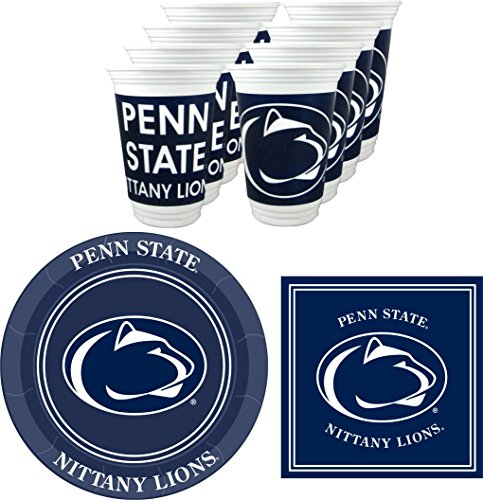 Westrick Penn State Nittany Lions Party Supplies - Serves 16 (48 Pieces)