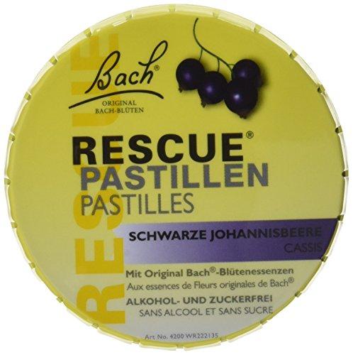 Bach Original Rescue Pastillen schwarz Johannisb. 50 g