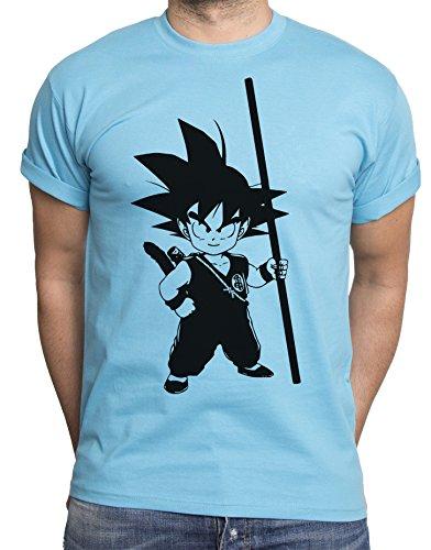 Son Goku T-Shirt pour Homme Goku Dragon Master Son Ball Vegeta Turtle Roshi DB, Farbe2:Türkis;Größe2:XL