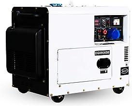 HIOD Generadores Diesel 5kw / 6kw, Tranquilo Grupo Electrógeno de Emergencia Corriendo 8h