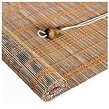 Giardino Persiana Enrollable de bambú, persiana Enrollable de bambú, persiana Enrollable de bambú, Cortinas enrollables con Filtro de luz, para Porche, Patio, pérgola, balcón con 90% de protección UV