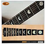 Marqueurs de palissandre incrustation Autocollant Stickers pour guitare et basse–phases de lune