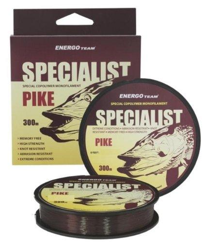 Energo Team Specialist Pike 300m 0,25mm/7,88kg Monofile Schnur Mono Schnur Angelschnur Angelsehne