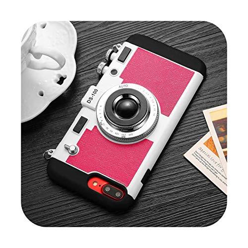 Funda de teléfono con cordón para iPhone 12 11 Pro X XS Max 6 7 8 Plus silicona suave cámara vintage protección completa a prueba de golpes cubierta trasera T4-para iPhone 7 u 8
