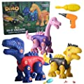 Invech Take Apart Dinosaur Toys for Kids, STEM DIY Toy Set with Electric Drill Construction- Engineering Play Kit for Boys/Girls by