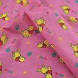 1Meter   Pink Disney Winnie the Pooh Polycotton Stoff