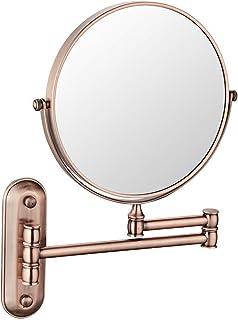 مرايا المكياج فانيتي 3X التكبير مزدوجة الوجه الحمام الحلاقة مرآة التجميل مزدوجة قابلة للطي الأذرع قابل للتعديل مرايا الحائط