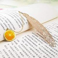 学生文具フレンズギフト包装メタルフェザーブックマーク豪華な黄金のブックマークのクリエイティブペンダントギフトボックス (色 : 2)