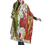 XCNGG Bufanda con flecos de cachemira de imitación chal bufanda larga de moda Pashmina Shawls And Wr...