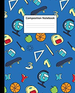 Composition Notebook: Funky Cartoon Play Time Blank Wide Ruled Notebook & Journal for Kids - Wide Lined Diary for Notes, W...