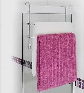 Passerini, 3744, Suporte Porta Toalhas Duplo em Toalheiro Box de Banheiro, Cor Cromado, Aço