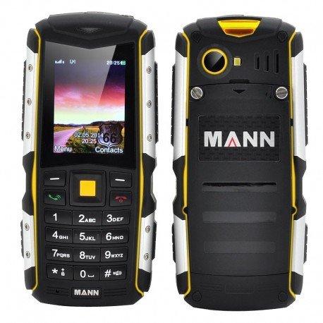 MANN ZUG S telefono robusto - Display da 2 pollici, IP67 impermeabile Rating, 2570mAh batteria, 2 slot per SIM (giallo)