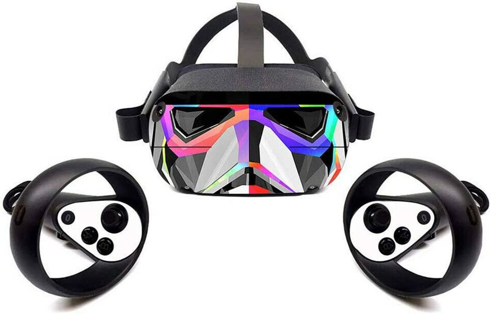 Skin Decals Removable Easy Apply Protective VR Headset Sticker for Oculus- Quest