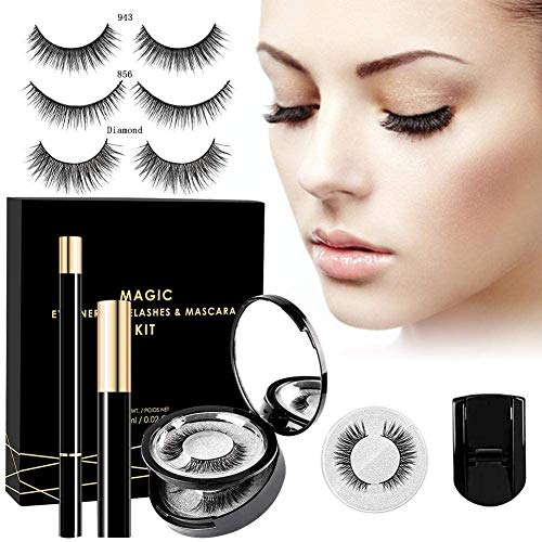 3D magnetische Wimpern magnet Wimpern,künstliche falsche Wimpern,magnetic Eyelashes mit Eyeliner,...