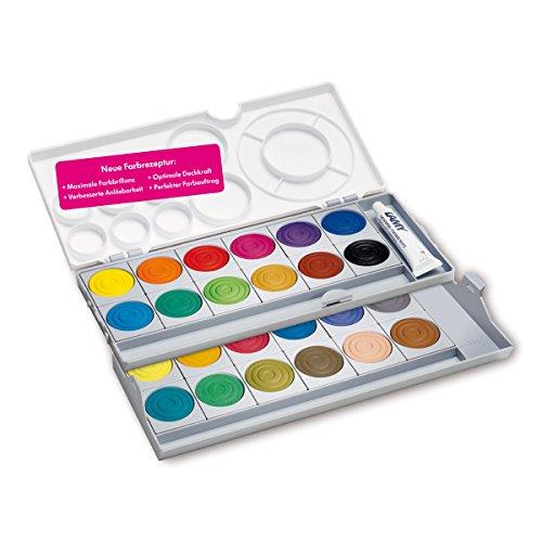 LAMY aquaplus Deckfarben 511 24er-Set: 1 Deckweiß nach DIN 5023 und 24 Farben mit lichtechten Farbpigmenten