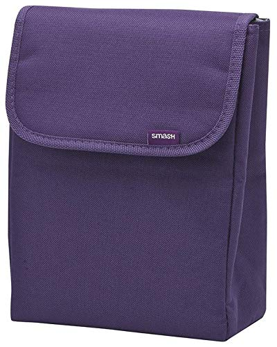 Smash Opvouwbare Lunch Tas, Polyester, Paars, 20x13x6.6cm