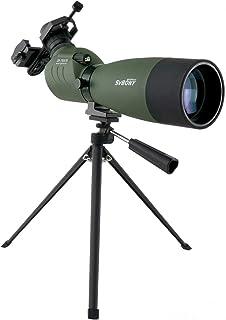 SVBONY SV14 フィールドスコープ バードウォッチング 望遠鏡 単眼鏡 高倍率 防水 大口径 天体観測 野鳥観察 スマホアダプタ付き 日本語マニュアル付き (25倍-75倍 70mm)