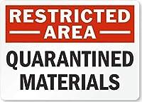 制限区域検疫材料。 金属スズサイン通知街路交通危険警告耐久性、防水性、防錆性