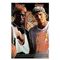 Suuyar 白人男性はジャンプできません映画アートフィルムプリントシルクポスター写真キャンバスプリントウォールアート家の壁の装飾-50X70Cmフレームなし