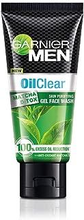 Garnier Men Oil Clear Matcha D-Tox Skin Purifying Gel Face Wash, 50gm