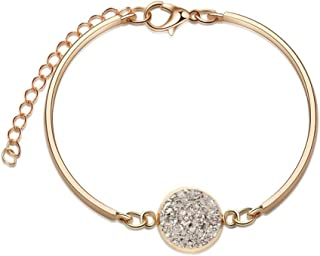 SC Products HJML Fashion Copper Plated Silver Micro-Inlaid Zircon Colorful Bracelet Female