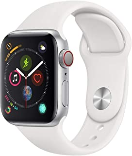 Apple Watch Series 4 (GPS + Cellular, 40mm) - Silver Aluminum Case with White Sport Band