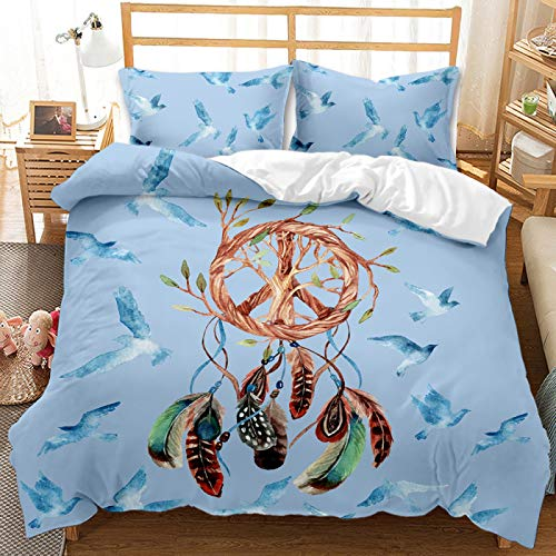 Nordic Style 3D Dreamcatcher Duvet Cover, 3-Piece Superfine Fiber Extra-Large Soft And Comfortable Bedding, Suitable For Home Textiles For Teenagers And Adults