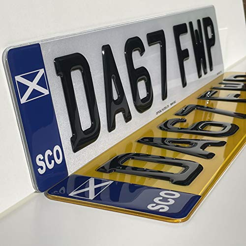 Scotland 3D Gel Number Plates Front and Rear for Car/Van Registration Plate (PAIR)
