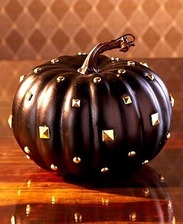 Designer Pumpkins ( Small Black with Studs )