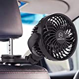 Best Car Fans - LEMOISTAR Battery Operated USB Baby Car Fan,Electric Cooling Review