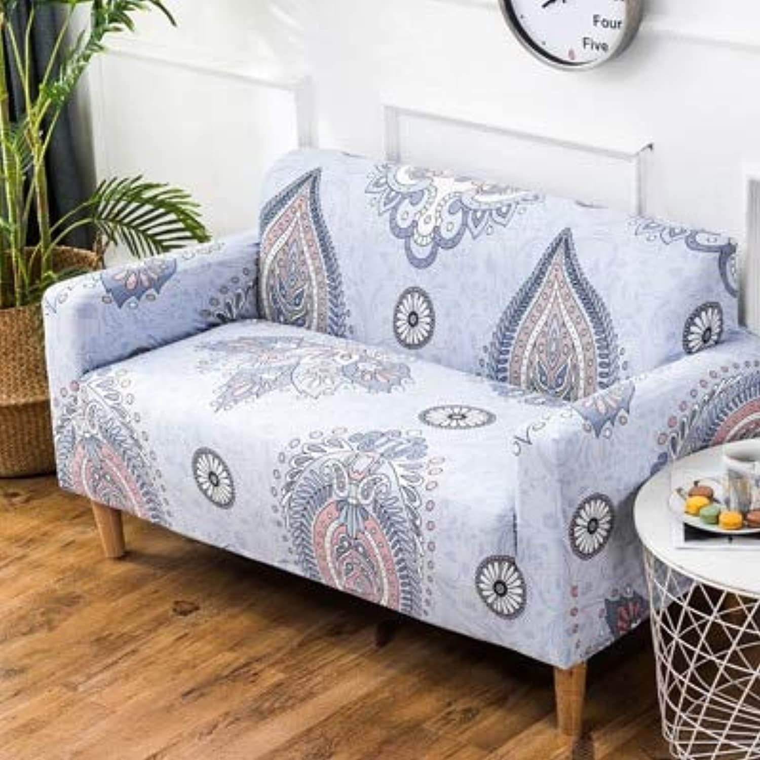 Bohemian Style Elastic Stretch Universal Sofa Sectional Throw Couch Corner Cover Cases for niture Arm Home Decor   6, Single seat Sofa