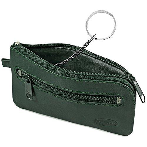 Kleines Schlüsseletui/Schlüsselmäppchen aus Leder, für Damen und Herrn, Jäger-Grün, Branco 019
