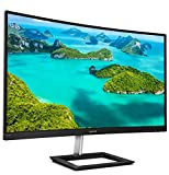 Philips 272E1CA 27' curved frameless monitor, Full HD 1080P, 100% sRGB, Adaptive-Sync, Speakers, VESA, 4Yr Advance Replacement Warranty