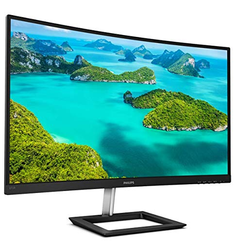 "Philips 272E1CA 27"" curved frameless monitor, Full HD 1080P, 100% sRGB, Adaptive-Sync, Speakers, VESA, 4Yr Advance Replacement Warranty"
