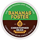 Bananas Foster Decaf Single Cup Christopher Bean Coffee Pods Capsules (18 Count) Compatible with Keurig 2.0 K-Cup Brewers