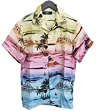 (アミリ)AMIRI シャツ Beverly Hills Hawaiian MWSSB-BHH-RAINBOW_XL [並行輸入品]