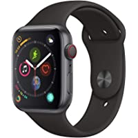 Apple Watch Series 4 44mm GPS & Cellular Smartwatch with Black Sport Band (Space Gray Aluminium Case) - Refurbished