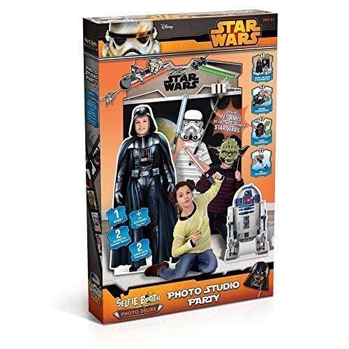 Lively Moments Star Wars Photo mit Darth Vader Pappaufsteller Studio Party mit Selfie Stick / Kindergeburtstag