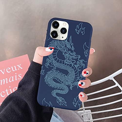TDG Cover Custodia Per Telefono Divertente Drago Rosso Per Iphone 12 11 Pro Xs Max Se 2020 Xr 7 X 8 6Plus Cover In Silicone Morbida Per Animali Di Moda Per Iphone 12 Pro Style 6