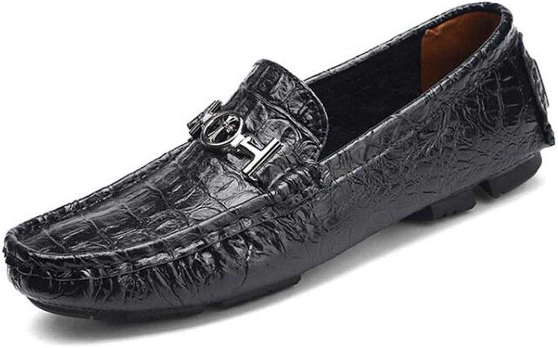 Leather peas shoes Driving shoes Lok Fu shoes Men's Driving shoes Men's Outdoor Casual shoes Hiking shoes Set Foot shoes