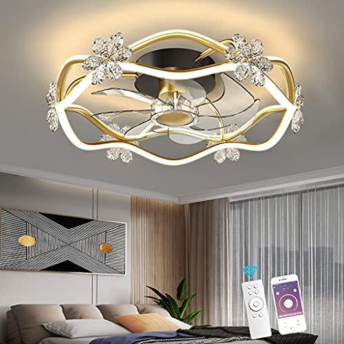 Ventilador De Techo Con Iluminación, LED Control Remoto Regulable Silencioso Moderno 3 Velocidades Ventilador De Sala De Estar Ajustable Luz De Techo Habitación Para Niños Comedor Oficina Ventilador