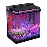 🐠【観賞魚飼育セット】Hygger LEDライト付き観賞魚飼育セットは、15Lのグラス水槽、3-in-1水中ポンプ、4つLED照明モードの蓋、2枚/セットの交換用フィルターボックスが含まれています。砂粒と植物などの装飾を入れて、ゆっくりと水を入れてから、24時間後に魚を入れて、素敵な水槽を完成します! 🐠【4つ照明モードLED】タッチスクリーンで水槽のふたのボタンに触れるだけで、きらめく白い日光の効果から夜の柔らかな光の効果に切り替わります。ホワイト・ブルー・レッド・グリーンの4種類の色のLED...