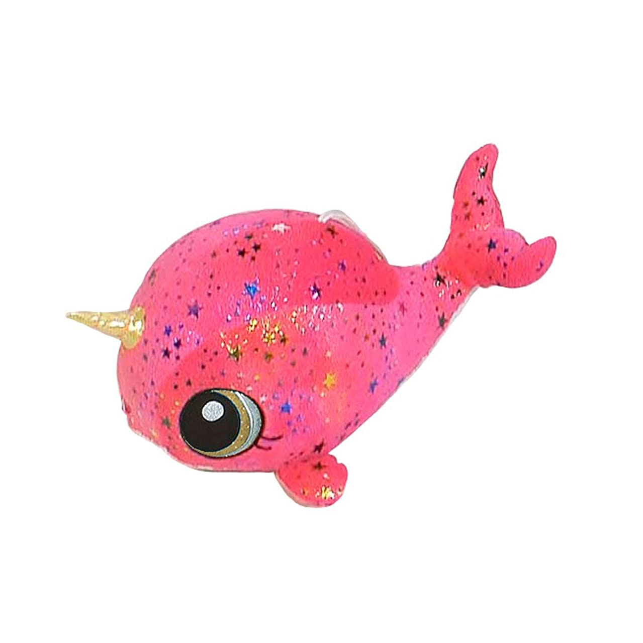 Fiesta Toys Pink Moon Glow Sparkle Rainbow Narwhal Plush Stuffed Animal Toy - 11 Inches