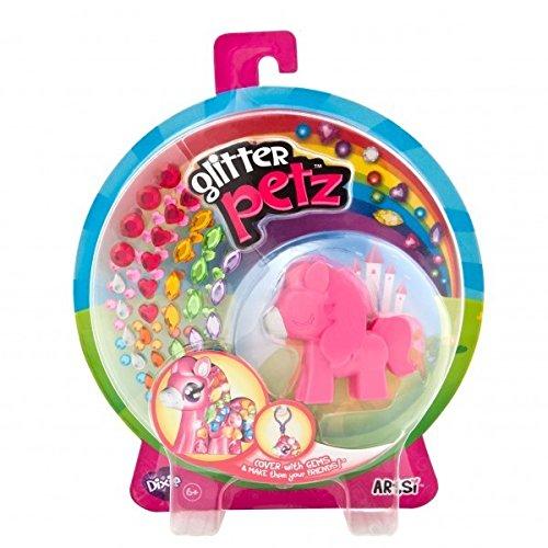 Orb Factory ORB69667 - Loisirs Créatifs - Figurine Animal - Poney Dixie - Porte-clés à Décorer avec des Joyaux Autocollants - Glitter Petz