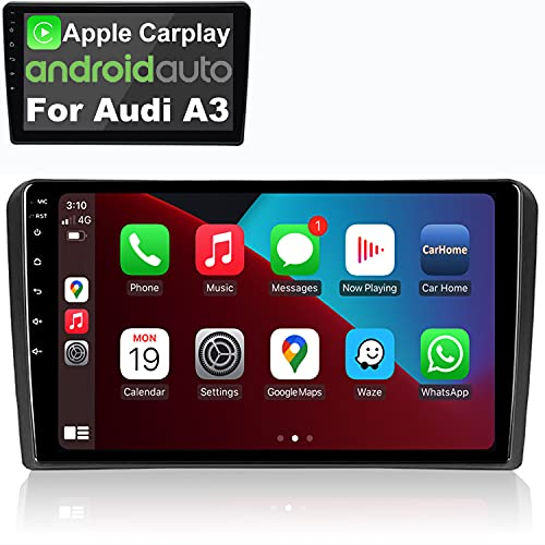 IYING Android 10 Autoradio Incorporado Inalámbrico CarPlay Android Auto para Audi_A3 S3 RS3 Pantalla IPS de 9 Pulgadas Am FM RDS Radio WiFi Bluetooth Audio Estéreo para automóvil con GPS navegación